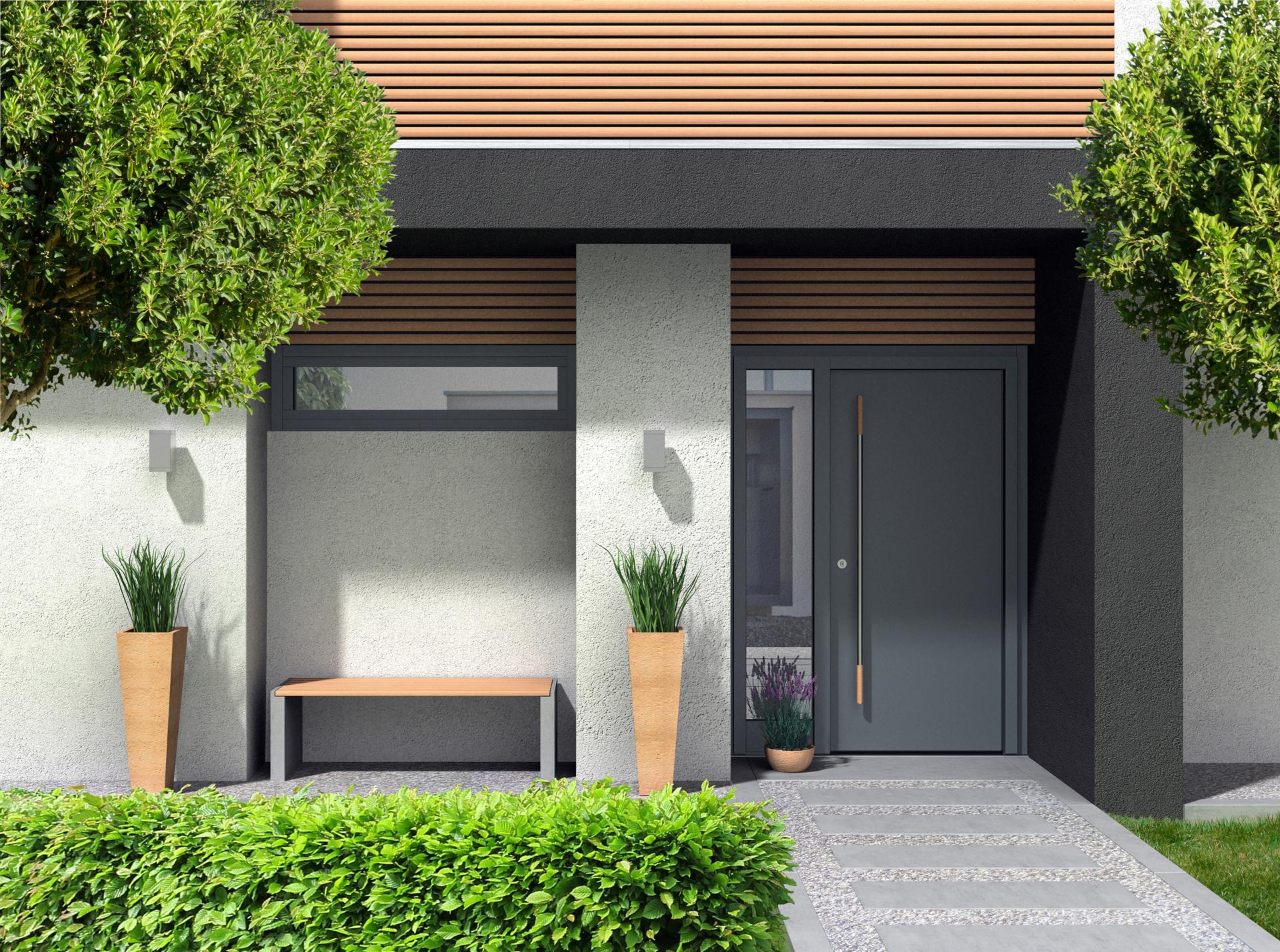 Der Frühling blüht auf mit Neuheiten! Aluminium Reveal-Tür – Premiere im OknoPlus-Angebot